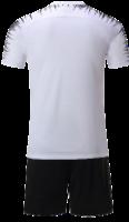 חליפת כדורגל לבן שחור פסים