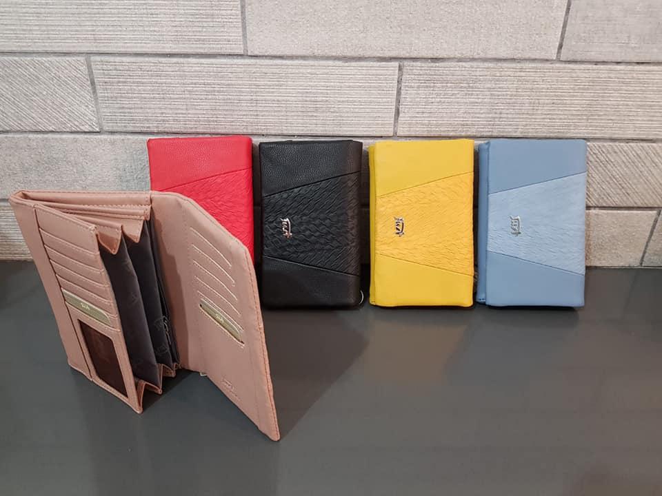 ארנק דמוי עור אדום, כחול, צהוב, שחור 4007