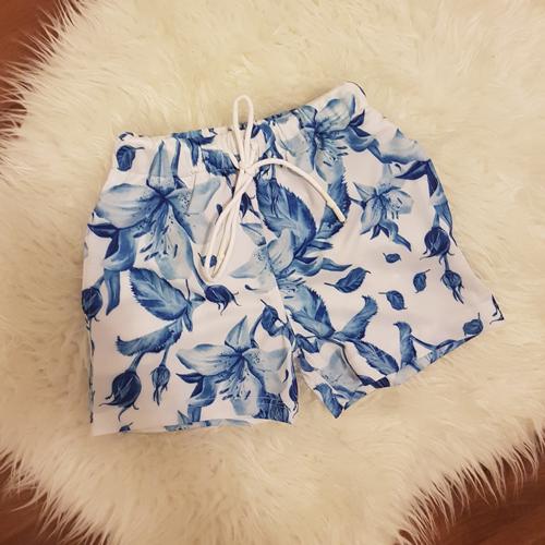 מכנס לילד כחול פרחים