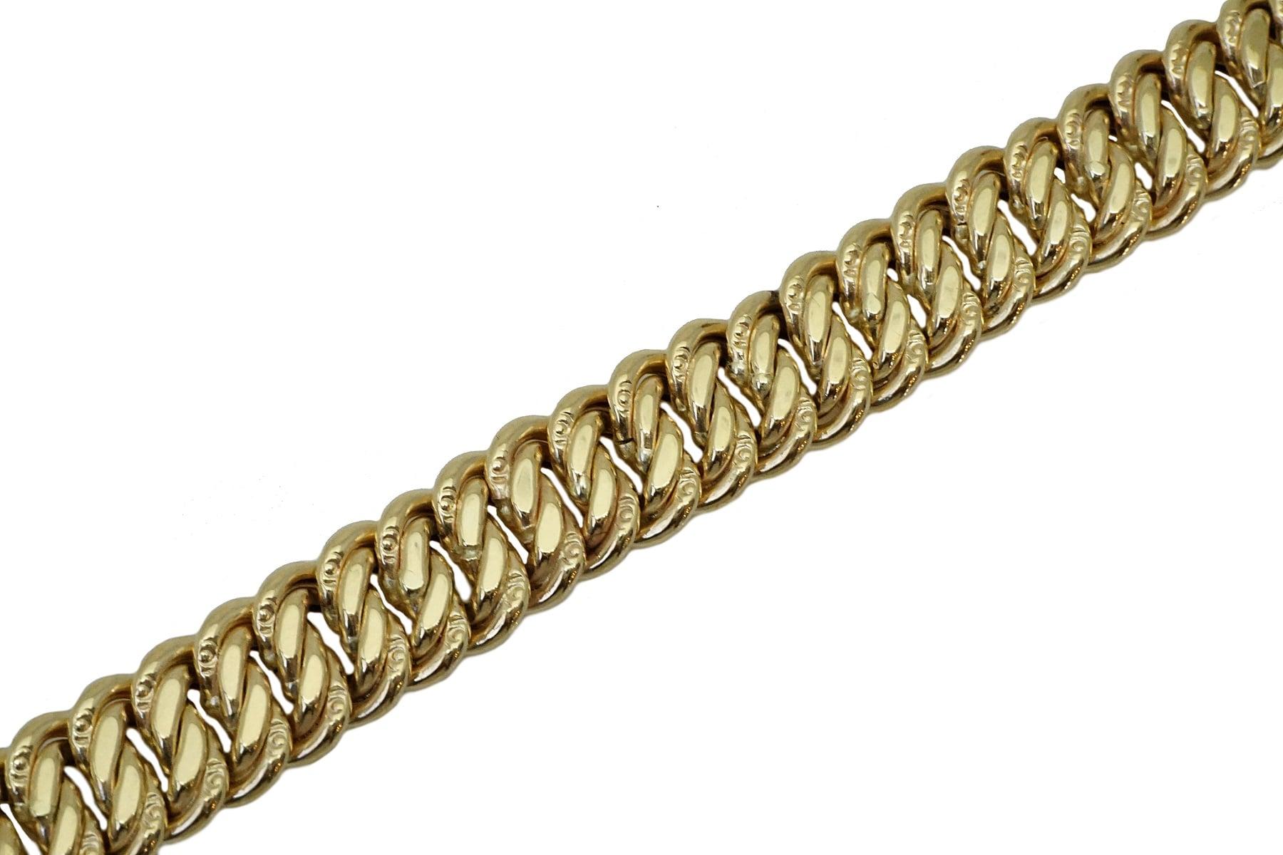 צמיד חוליות זהב לנשים בזהב צהוב
