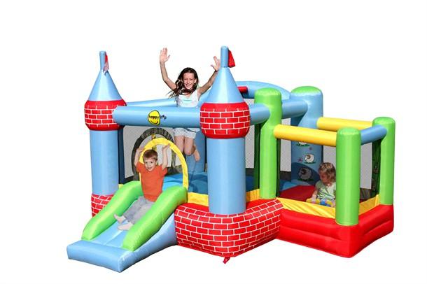 מתקן קפיצה הטירה הכולל בריכת כדורים החווה הפי הופ - 9112 - Castle Bouncer With Farmyard  Happy Hop
