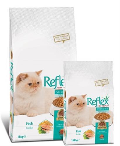 """ריפלקס דגים לחתול מעוקר ומסורס 15 ק""""ג"""