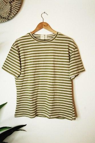 חולצה עבה פסים ירוק