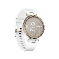 Lily Sport Cream Gold Bezel with White Case and Silicone Band