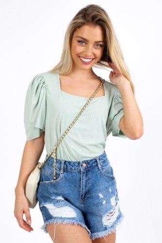 חולצת דילן ירוק/לבן