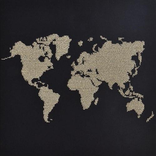 ריקמת חרוזים 40X40 - מפת העולם