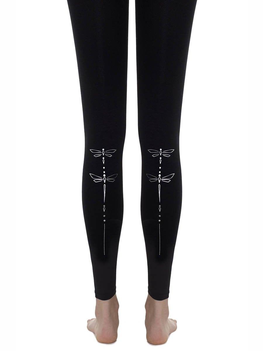 גרביון ללא כף רגל 'DRAGONFLY' - שחור