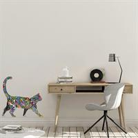 2 מדבקות קיר חתולים - walking cat