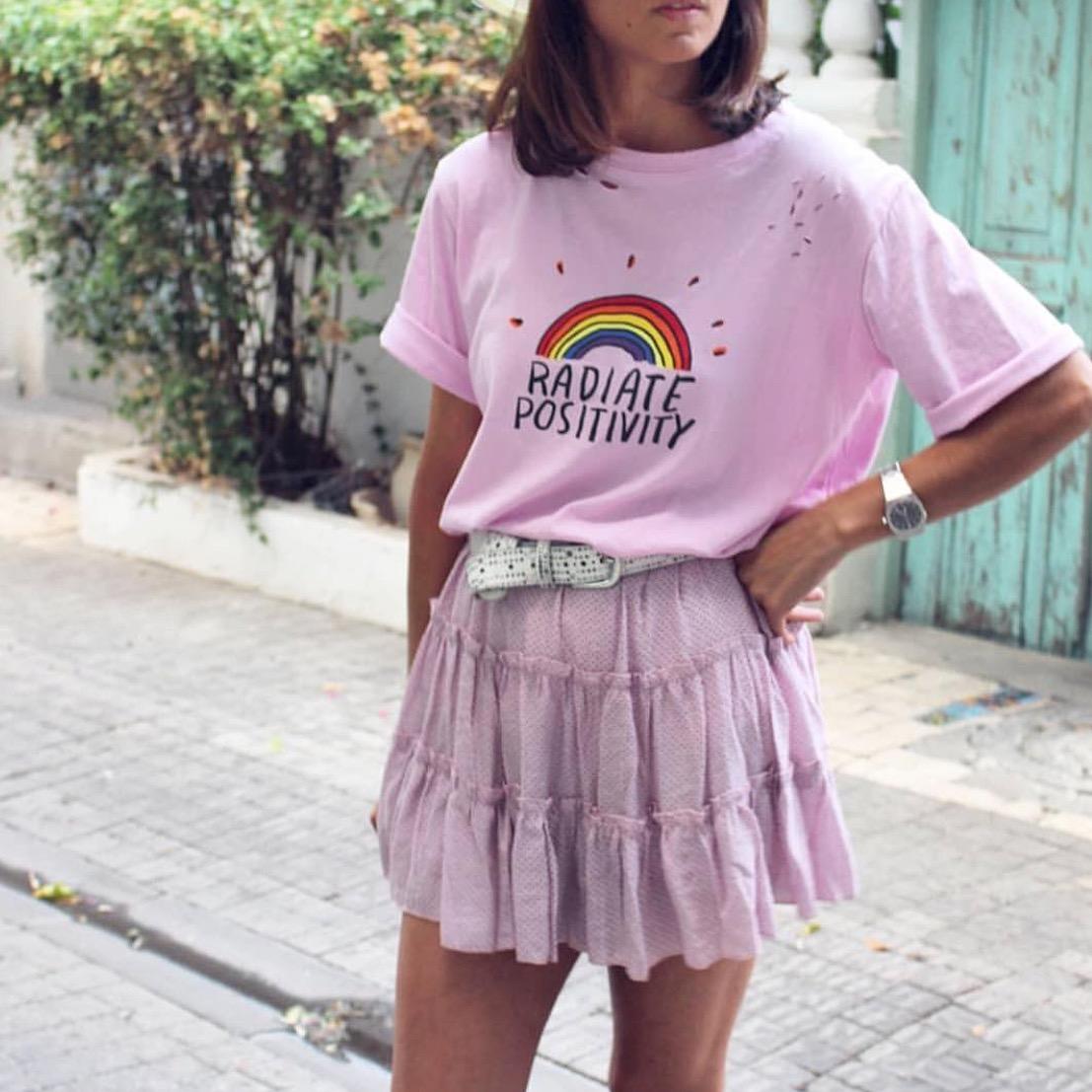 חצאית נקודות פריזאית - ורודה