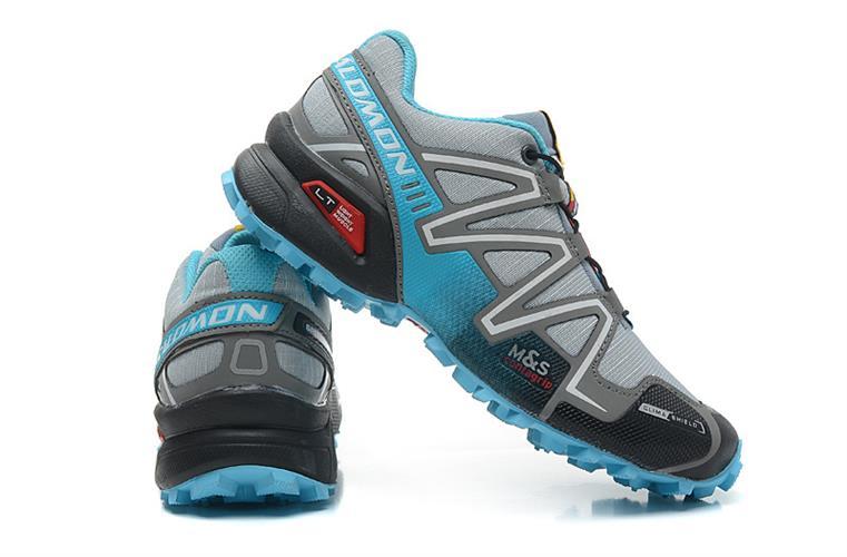 נעלי ריצה Salomon Speed Cross III לנשים אפור תכלת מידות 36-41