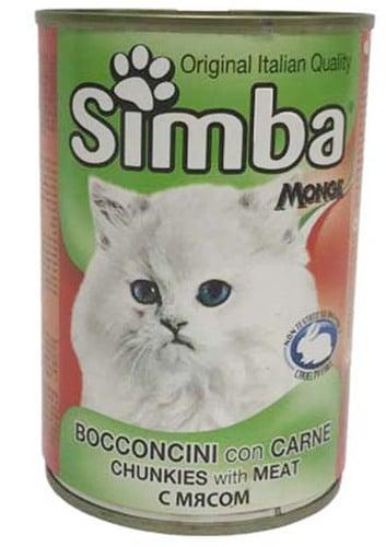שימורים סימבה (simba) לחתול בטעם בשר 415 גר'