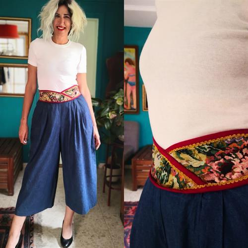 מכנס חצאית ג'ינס עם גובלן מידה M/L