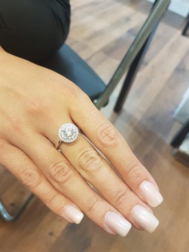 טבעת משובצת - 2 מעגלים