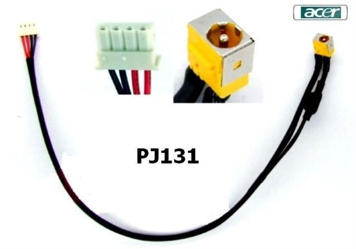 שקע טעינה למחשב נייד אייסר PJ131 - Acer Aspire 6530 6930 6930G 6930Z Laptop Dc jack with cable