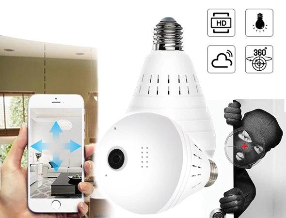מנורה ביתית משולבת מצלמה נסתרת