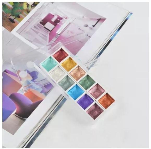 ערכת יצירה זוהרת - 12 צבעי מים