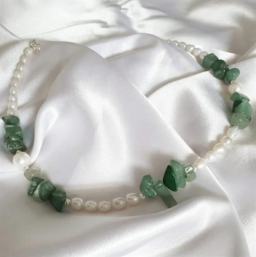 שרשרת גרין- פנינה ירוק