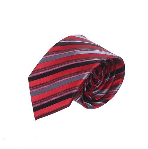 עניבה פסים רחבים אדום