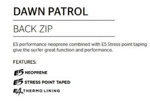 RIP CURL Dawn Patrol 4/3mm Back Zip  Wetsuit Steamer