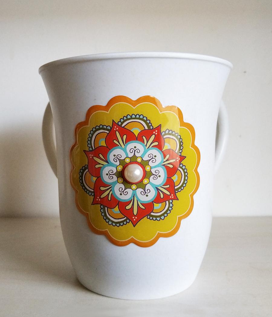 נטלה - דגם פרח צהוב - דוגמא