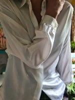 חולצה מכופתרת לבנה רכה L/XL