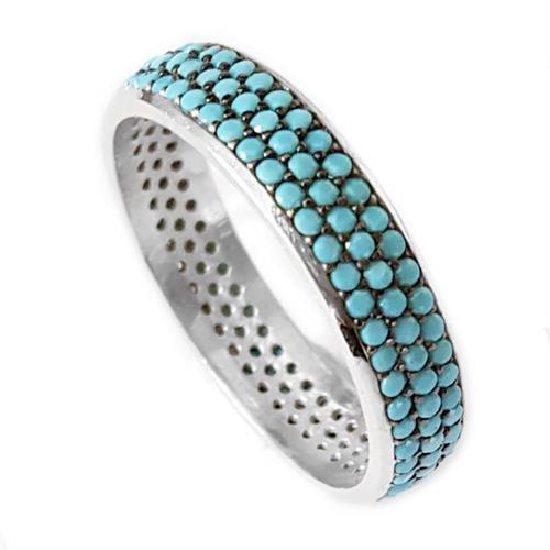 טבעת כסף משובצת אבני זרקון כחולות RG5598 | תכשיטי כסף 925 | טבעות כסף