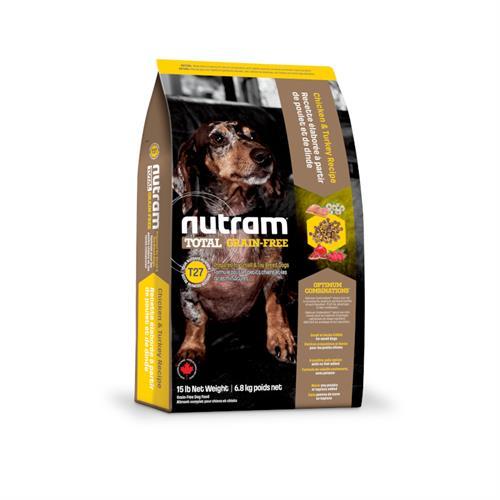 נוטראם טוטאל לכלב מגזע קטן הודו,עוף וברווז ללא דגנים t27 2.72 kg