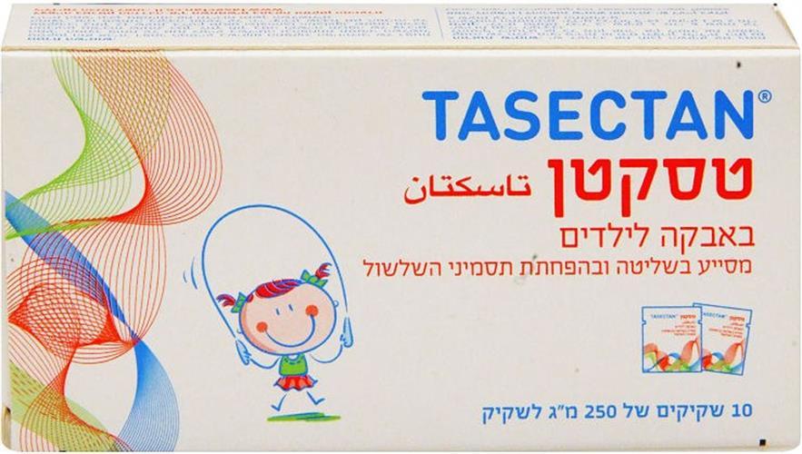 טסקטן באבקה לילדים מסייע בשליטה ובהפחתת תסמיני השלשול 10 שקיקים