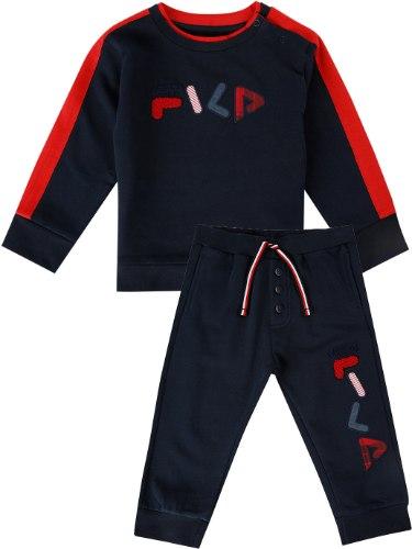 חליפת בייבי כחולה עם לוגו מבולבל FILA -  מידות 6 - 24 חודשים