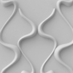 חיפויי קיר תלת מימדי דגם ''malam'' בגודל 50X50