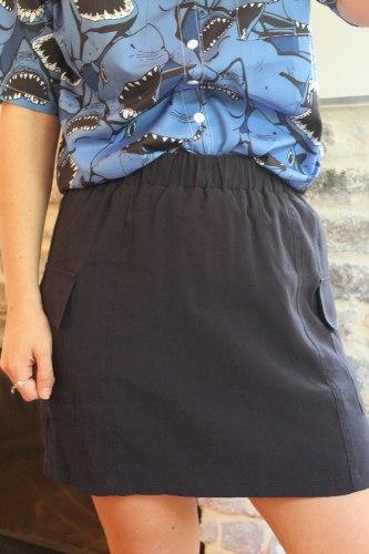 חצאית מיני כיסים
