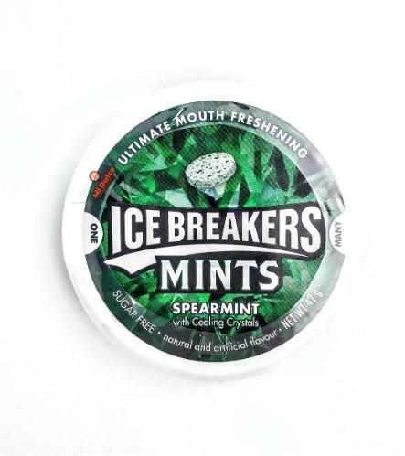 Ice Breakers סוכריות מרעננות בטעם מנטה עדינה