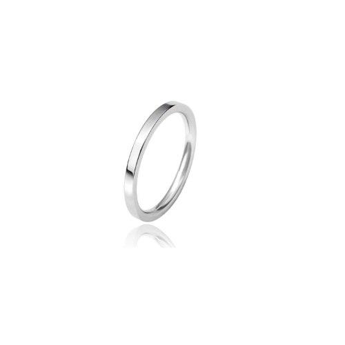 טבעת נישואין זהב ישרה חלקה 2.0 ממ