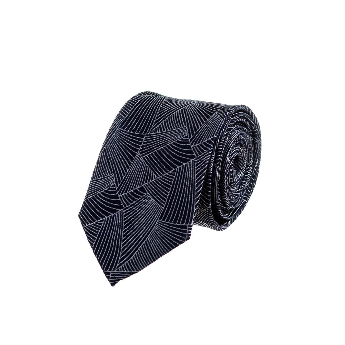 עניבה מניפה כחול כהה
