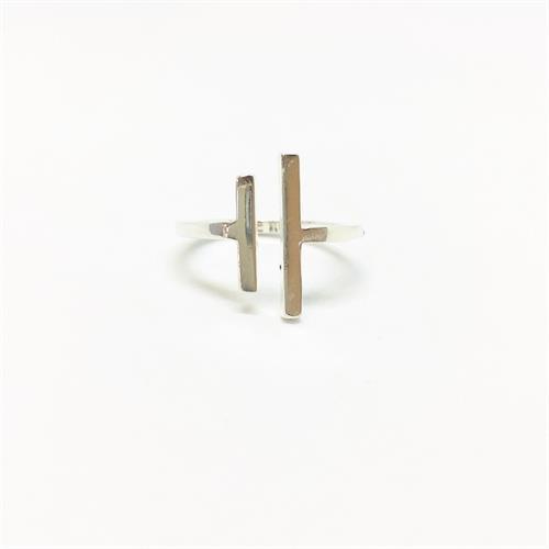 טבעת פסים כסף