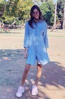 שמלת ג'ינס מכופתרת אליס שרוול ארוך