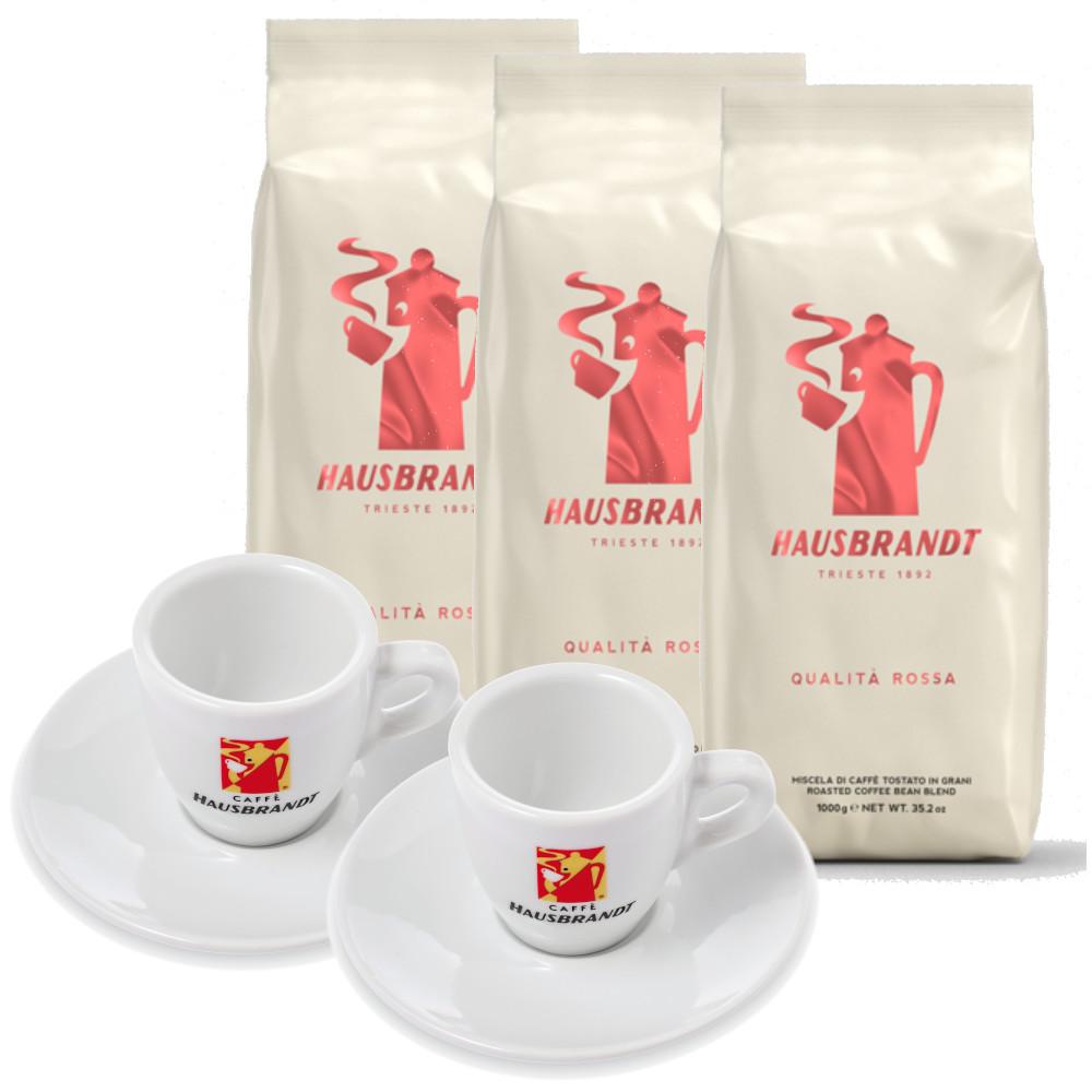 3 קג פולי קפה האוסברנדט רוסה Hausbrandt Rossa
