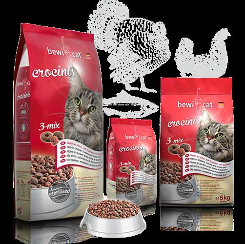 """בוויקט קרוקיניס מיקס 5 ק""""ג מזון פרימיום לחתולים"""