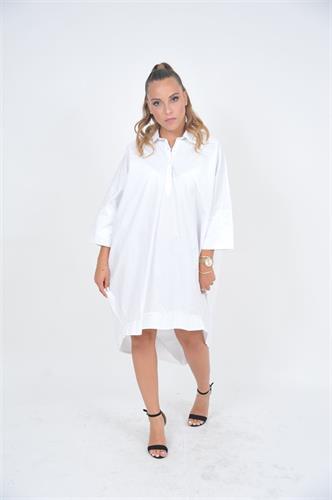 שמלת OVER SIZE לבנה