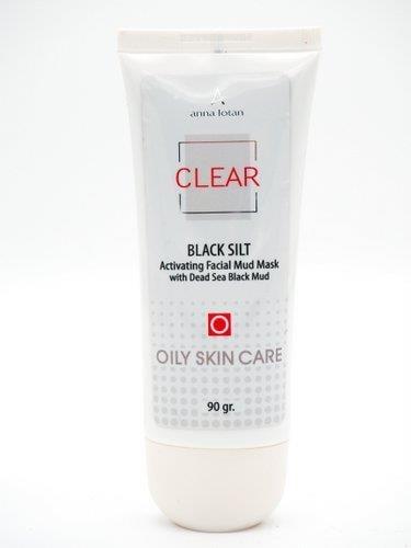 בלאק סילט- מסיכת בוץ שחורה מים המלח- אנה לוטן סדרת קליר CLEAR
