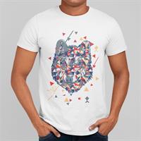 חולצת טי עם הדפס זאב