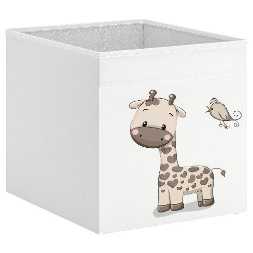 קופסת אחסון לכוורת עם הדפס- ג'ירפה