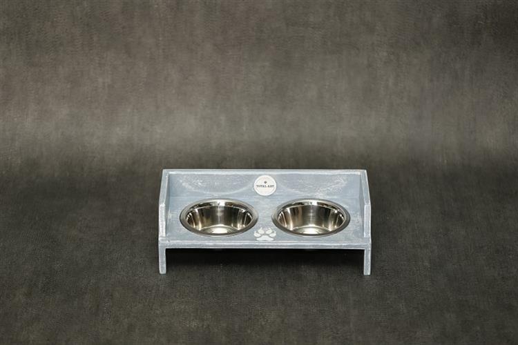 כלי אוכל ושתיה לחתול- שוליקה XS-S אפור בטון