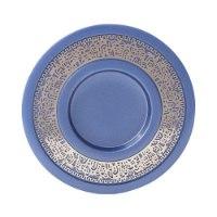 כוס קידוש + עיטור ירושלים - כחול + ניקל