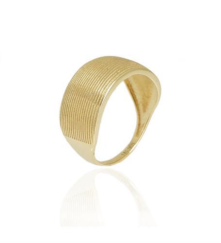 טבעת זהב עם פסי זהב|טבעת מיוחדת
