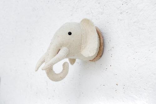 פיל גדול לבן-שמנת
