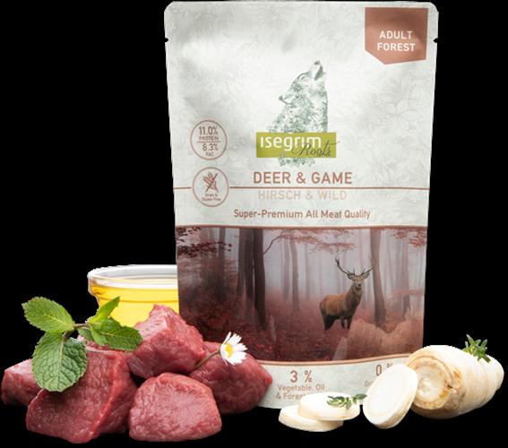 מזון טבעי טרי רך ומבושל בשר אייל וצייד 410 גרם