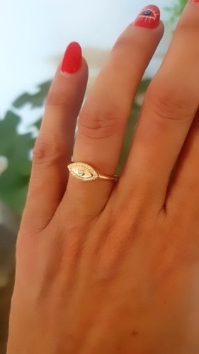 טבעת מילי רוזגולד עין