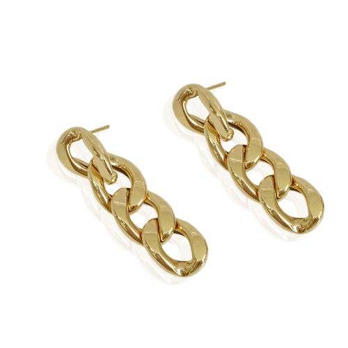 עגילי זהב חוליות נתלים|זהב לבן או צהוב