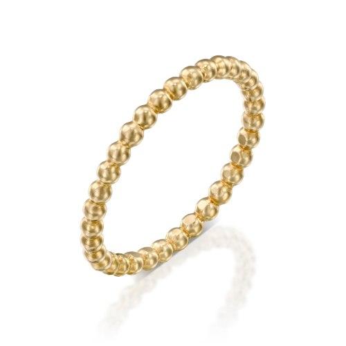 טבעת זהב 14 קרט סוכריות קטנות נועה טריפ noa tripp